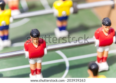 footbal table - stock photo