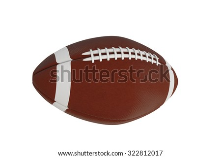 football ball isolated on white background - stock photo