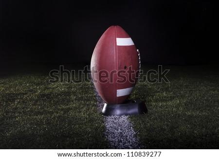 Football Field Kickoff - stock photo