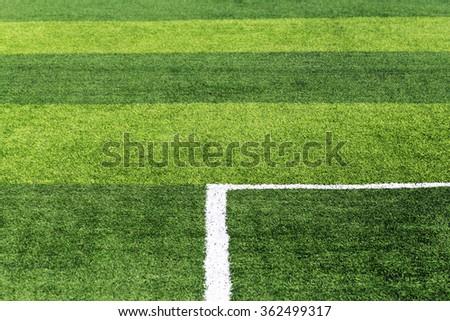 Football field,soccer field in sunny day. - stock photo