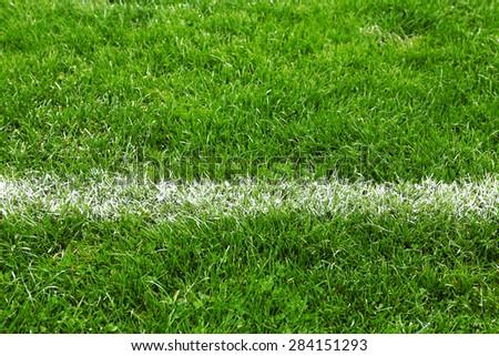 Football field stadium background - stock photo