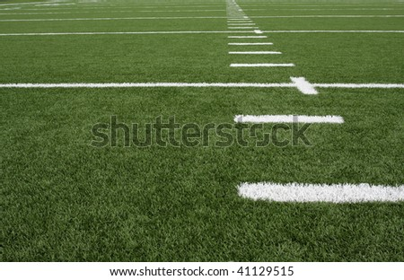 Football field yard lines - stock photo
