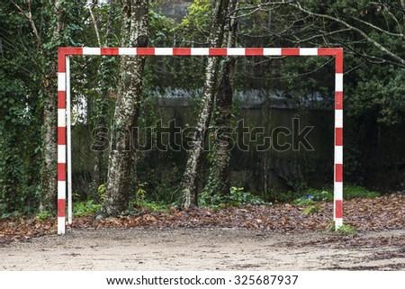 Football goal - stock photo