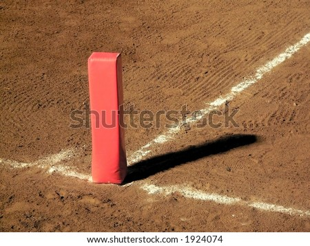 Football Goal-line Marker - stock photo
