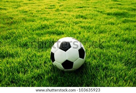 football green grass ball stadium football field game sport background for design - stock photo