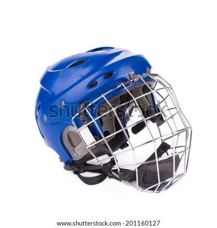 Football Helmet isolated on the white background in closeup - stock photo