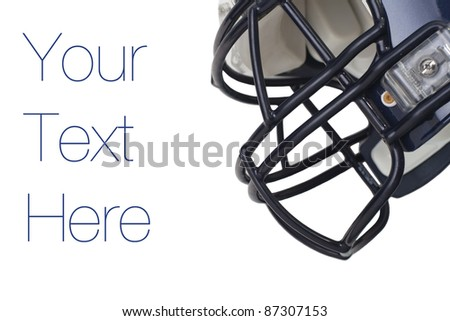 Football Helmet, Isolated on white, copy space - stock photo