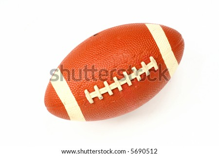 football isolated on white - stock photo