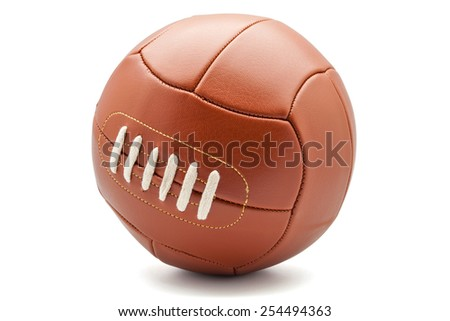 football on a white background - stock photo