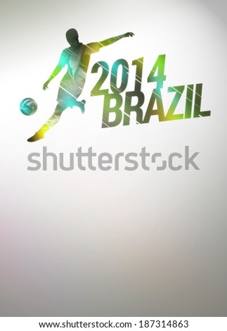 Football or soccer invitation poster, flyer and other advert background with empty space - stock photo
