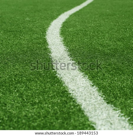 Football pitch with the ball, sports background - stock photo