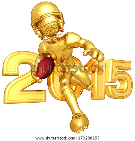 Football Player With Year - stock photo