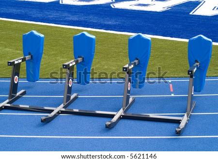 football practice - stock photo