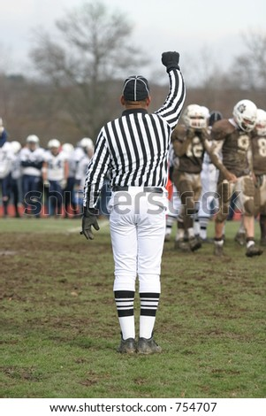 Football referee. - stock photo