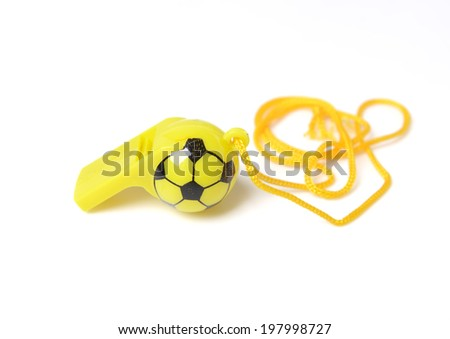 football shape whistle isolated on a white background. - stock photo