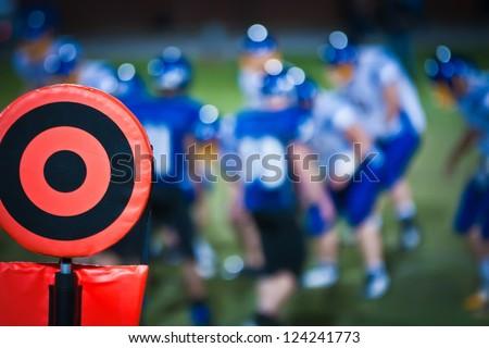 football sideline marker - stock photo