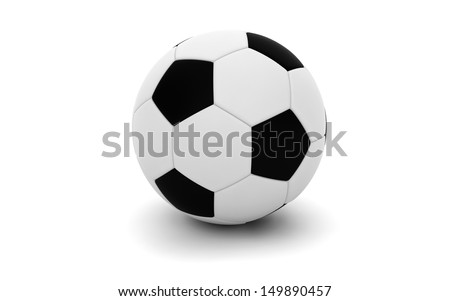 Football / Soccer ball isolated on white - stock photo