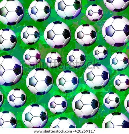 Football Soccer Ball Pattern - stock photo