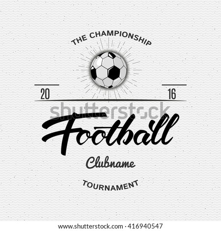 Football, Soccer Hand lettering badges and labels for any use - stock photo