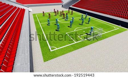 Football stadium with empty tribunes.  - stock photo