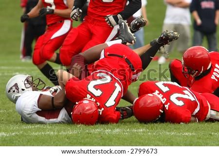Football tackle - stock photo
