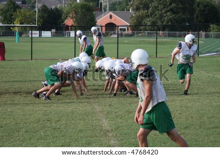 Football Team - stock photo