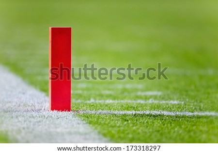 Football Touchdown Pylon - stock photo