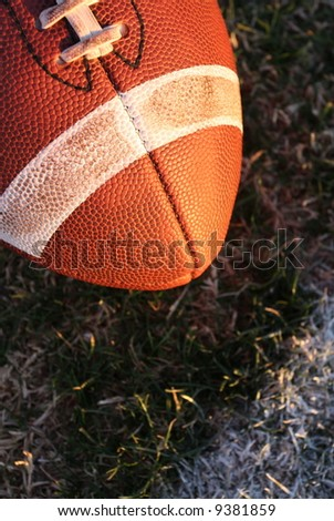 Football with room for type - stock photo