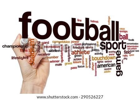 Football word cloud concept - stock photo