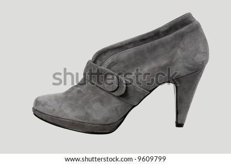 footwear isolated on a grey background. - stock photo