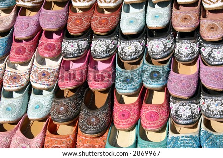 Footwear slippers sandals - stock photo