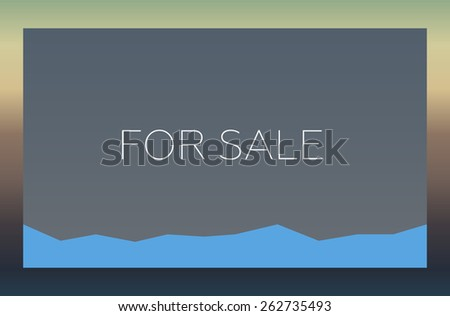 FOR SALE - stock photo