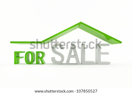 For sale 3d icon - stock photo