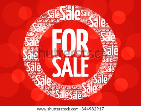 FOR SALE words cloud, business concept background - stock photo