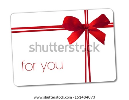 for you - gift card - stock photo
