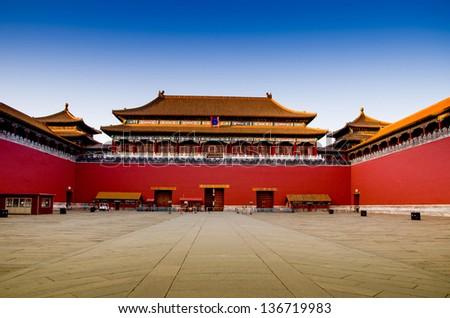 Forbidden City in Beijing - stock photo
