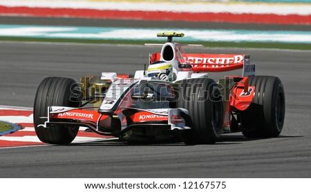Force India's Italian F1 driver Giancarlo Fisichella - stock photo