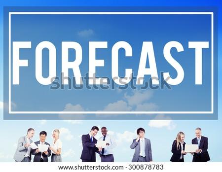 Forecast Prediction Precision Probability Future Concept - stock photo