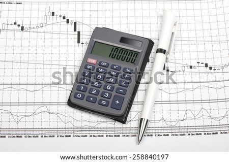 Foreign exchange market analysis and tools for trading - stock photo