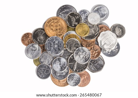 Foreign Money Collection - stock photo
