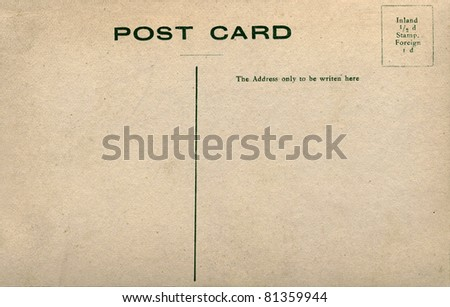 Foreign Postcard printed in Europe in early 1900. - stock photo