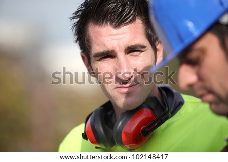 Foreman outdoors - stock photo