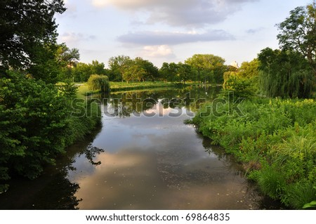 Forest Park Stream - stock photo