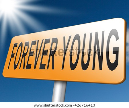 Forever young stop aging and find the fountain of eternal youth, plastic surgery and wellness - stock photo