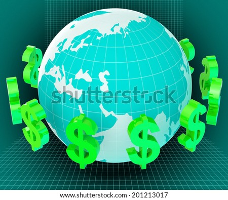 Forex Globe Representing Currency Exchange And Usd - stock photo
