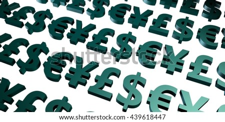Forex or Foreign Exchange Investment Trading as Concept 3D Illustration Render - stock photo