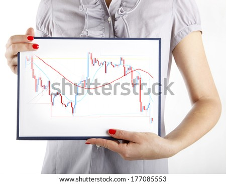 Forex trading business concept on white - stock photo