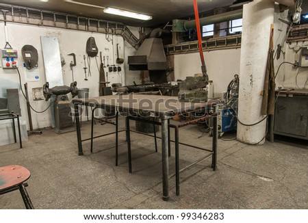 Forge - stock photo