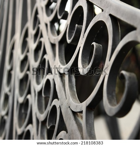 Forged iron decoration detail - stock photo
