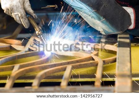 forging iron - stock photo